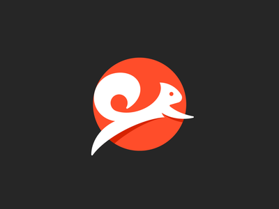 Squirrel grid mark symbol branding identity logo creative logo cute logo animal illustration jumping logo logo mark logos animal mark animal logo squirrel logo