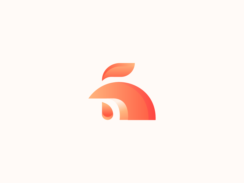 Rooster mark logo symbol abstract branding restaurant logo illustration gradient logos bird mark gradient logo rooster logo minimal logo minimalist logo abstract logo animal logo bird logo
