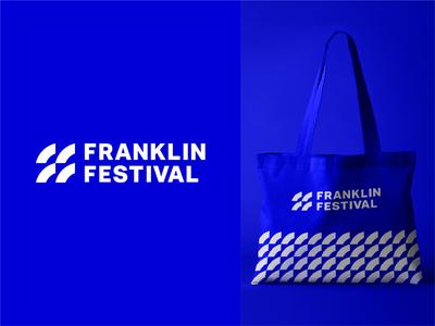 Franklin Festival monogram design monogram monogram logo letter mark typography symbol mark branding vector illustration simple logo festival logo letter logo lettermark f mark f logo abstract abstract logo