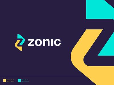 Zonic letter logo z letter logo letter mark icon symbol identity branding brand identity logo identity cooperative technology zonic z mark z logo creative logo abstract logo minimal abstract z