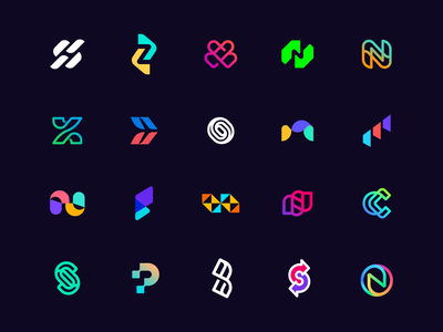 Lettermarks color minimalist branding brand identity lettermark sports gym moving path cafe carrier travel letter h simple technology mnopqrstuvwxyz abcdefghijkl logos minimal abstract