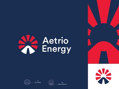Aetrio Energy new sunrise tech logo abstract abstract logo illustration symbol letter mark branding technology petroleum a mark a logo a power energy logo petrol energy sun