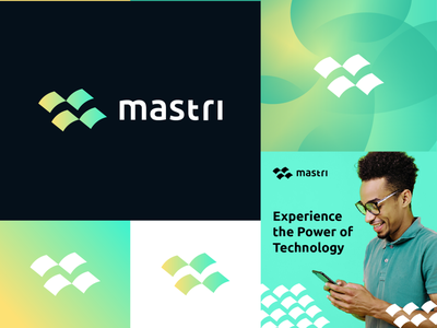 mastri m logo minimalist logo flag creative designer freelance moving minimal app letter logo abstract huge team technical strong feel power m tech logo technology