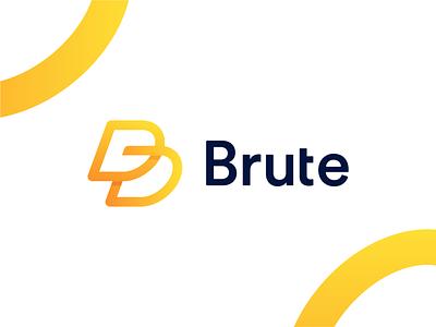 Brute clever creative simple design illustration mark symbol identity letter mark app logo identity logo mark brand identity b mark b logo branding technology minimal logo abstract
