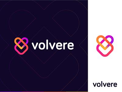 Volvere creative v v logo v mark couples love design mark identity letter mark branding identitiy brand identity branding symbol logo mark logo app technology minimal abstract