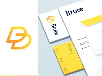 Brute lettermark identity letter mark symbol illustration illu creative simple app logo brand identity branding identity b mark b logo logo minimalistic minimal guideline branding