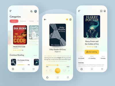 Audio Book App product creative books ux ui audio book app playing app reading app book reading app mobile mobile app application book app android ios audio app