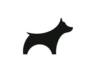 Dog cute symbol guide mark brand animal logotype logo illustration identity dog design