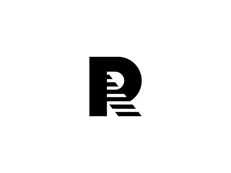 R Mark brand identity illustration letter logo staircase steps logo letter mark letter form r logo r mark