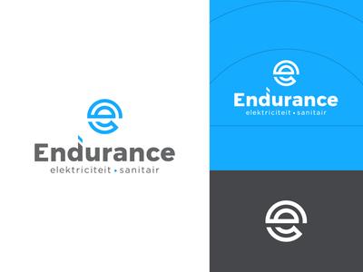 Endurance Logo letter mark electronic logo mark mark symbol branding identity illustration energy logo sanitary sanitary logo circle logo e logo e mark