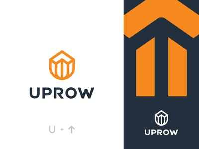 Uprow mark illustration mixed mark arrow mark letter mark icon logo grid symbol mark branding identity lettermark u mark u logo arrow logo uprow logo
