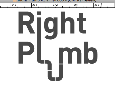 Right Plumb logo plumbing