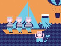 Nautical Pigs