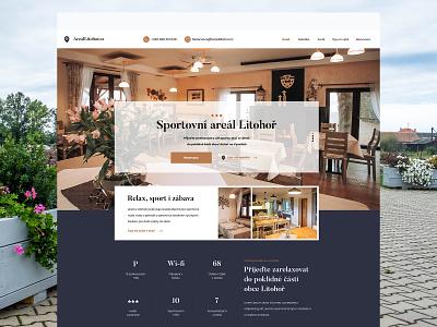 Sportovní areál Litohoř hotel photoshop design webdesign