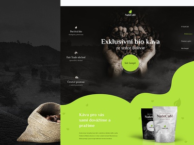 Natecafe exlusivní káva fairtrade bolivia nature bio coffee