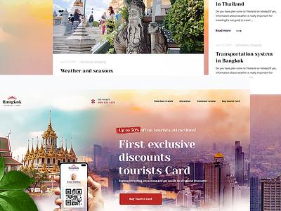 Bangkok webdesign design application tourist bangkok