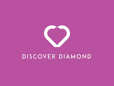 Discover Diamond - Negative Space Logo Concept