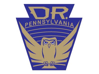 Dr. Pennsylvania Logo gold blue logo pa pennsylvania keystone owl