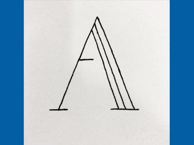 Typography Month 1: A sketch ink typography lettering a