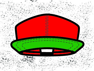 Red Cap illustration red plain hat