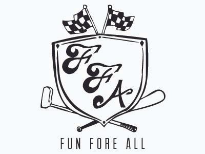 Fun Fore All Crest crest flags bat hand drawn club