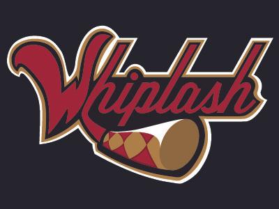 Whiplash sports logos whip whiplash red black gold erie