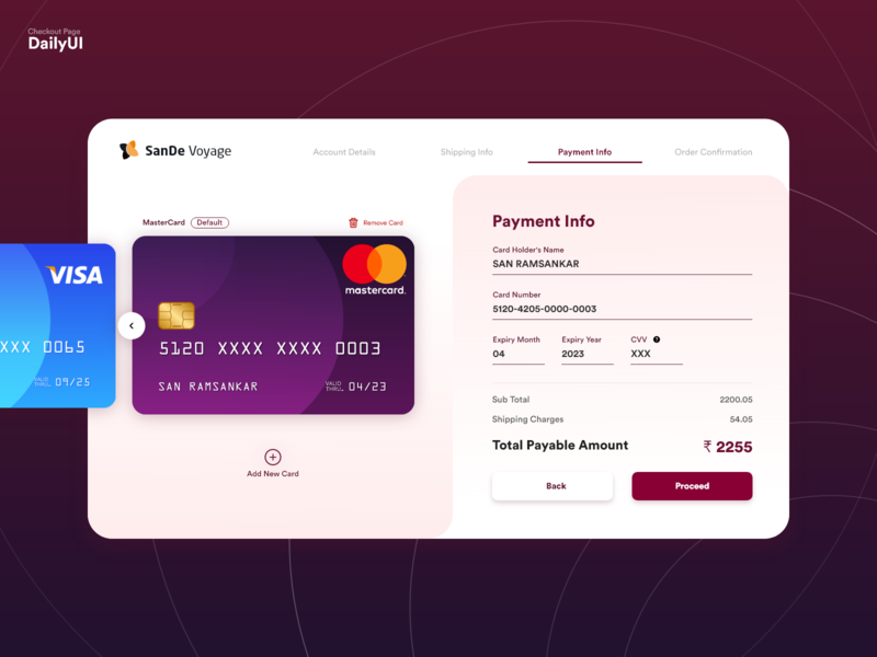 002 Checkout Page visa mastercard creditcard dailyui payment form checkout page ui almatho visual design dailyuichallenge dailyui 002 002