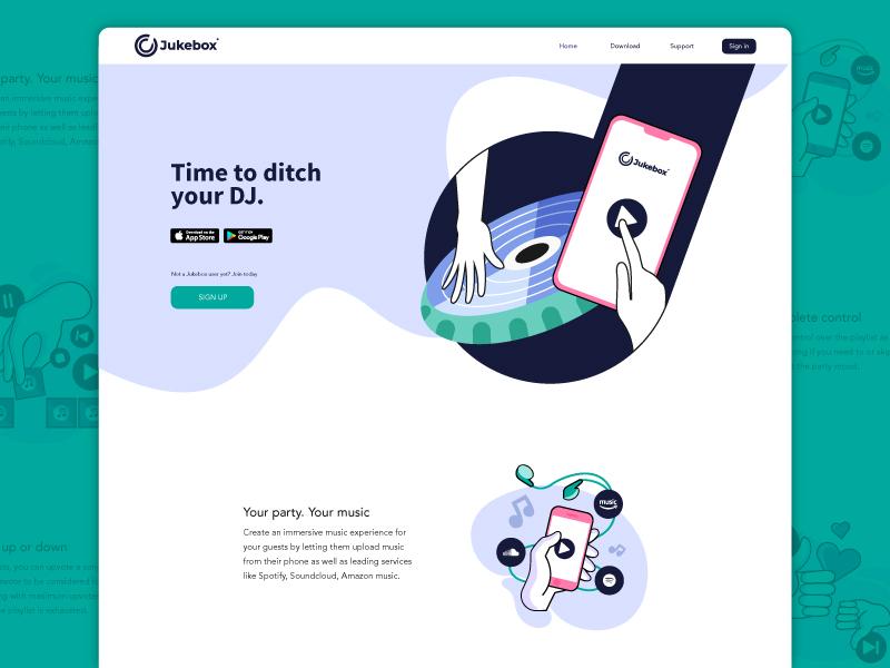 Failed Designs #1 almatho illustration colours cool simple website design ui