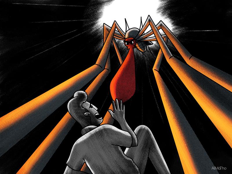 The Killer in my Nightmare design man character colours visual almatho dream nightmare cartoon character drawing illustration manga comic cartoon noire dark mosquito killer