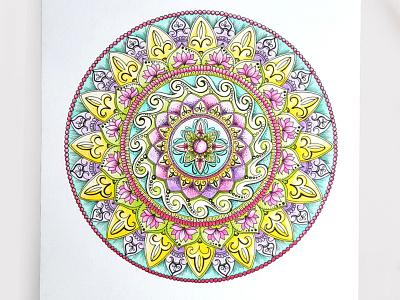 Alexandra T1dribbb ink zentangle geometry art design coloful pencil art graph doodle art doodle zenart mandalas mandala
