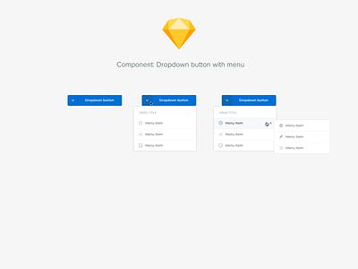 Component: Dropdown button with menu design system components ui