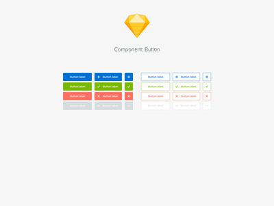 Component: Button ui design system components