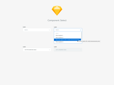 Component: Select ui design system components