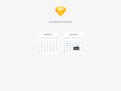 Component: Calendar ui design system components