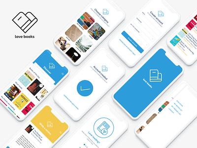 love books branding logo ui design app mobile