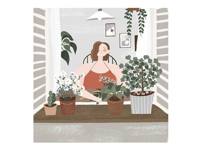 Comfortable life people lifestyle design girls procreate illustraion ipadpro art