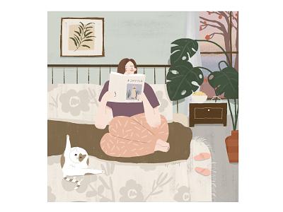 Comfortable life people girls design procreate illustraion ipadpro art