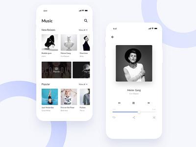 Music app ui mobile ios app music