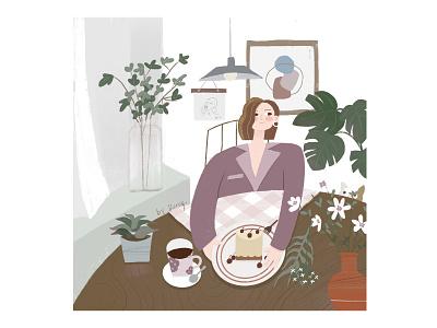 Comfortable life lifestyle people girls design procreate illustraion ipadpro art