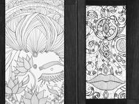 Guan Yin & leather bookmark