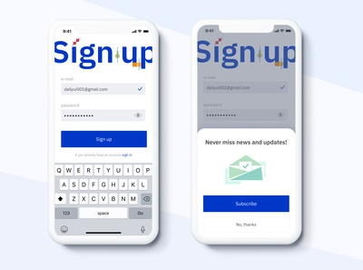 Sign up page #DailyUI #001