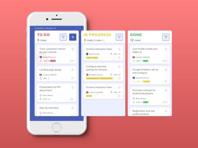 Kanban App Concept