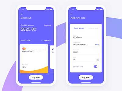 Credit Card Checkout Style payment method mobile app ux process credit card ux appconcept ux design ui