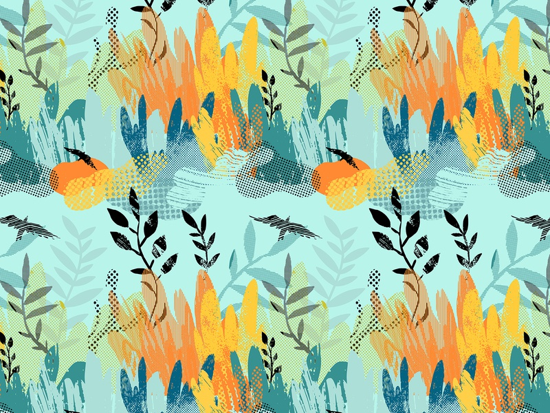 Art plants. Seamless pattern abstract hand drawn texture dots plants pattern fabric textile seamless pattern seamless background design nature vector illustration illustration vector