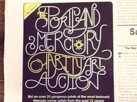 Custom lettering for the Portland Mercury