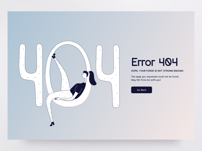 Error 404 design flat blackandwhite lineart web graph people illustration vector character 404 girl