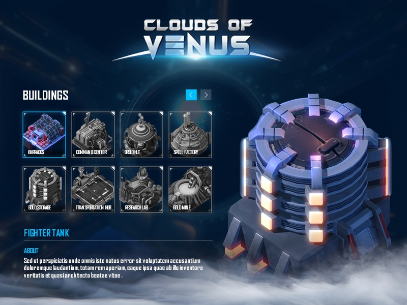 Cloud of Venus battle space station mobile game ui design 3d game illustration games strategy game gamedesign