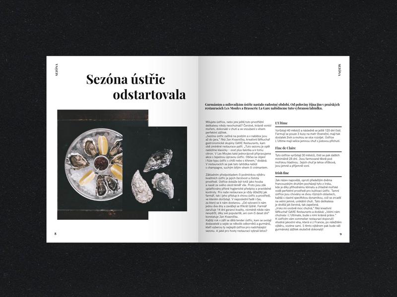 French restaurant magazine editoral magazine print layout french gastro gastronomy prague food restaurant restaurant branding restaurant design