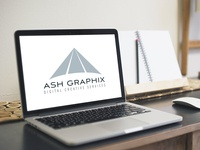 Ash Graphix Logo Design