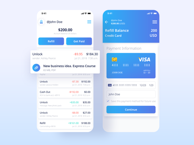 Actiwallet. Wallet for selling and purchasing digital goods figma application design app ui application expenses transactions purchase money finance balance design mobile design mobile app mobile ui card ui wallet ui app ux ui